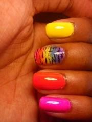 rainbow zebra nails animal
