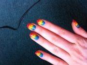 rainbow nails paint