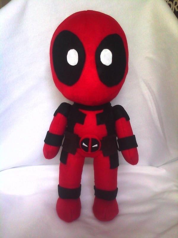 Deadpool Plushie  A Character Plushie  Needlework