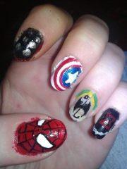 superhero nail art character