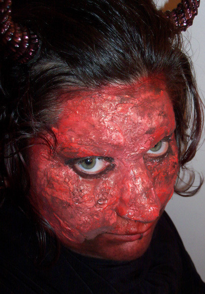 Latex Devil Face  Fake Skin  MakeUp Techniques and Decorating on Cut Out  Keep