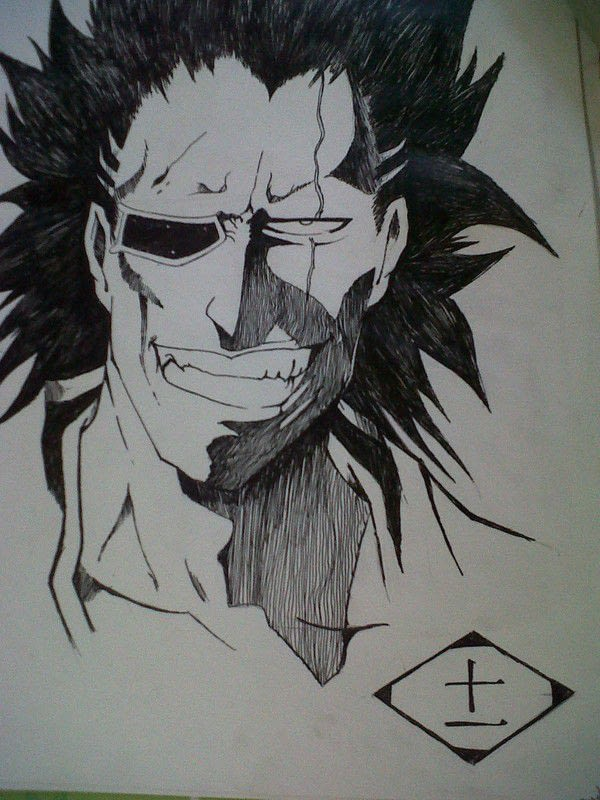All Anime Characters Wallpaper Zaraki Kenpachi 183 A Drawing 183 Art And Drawing On Cut Out