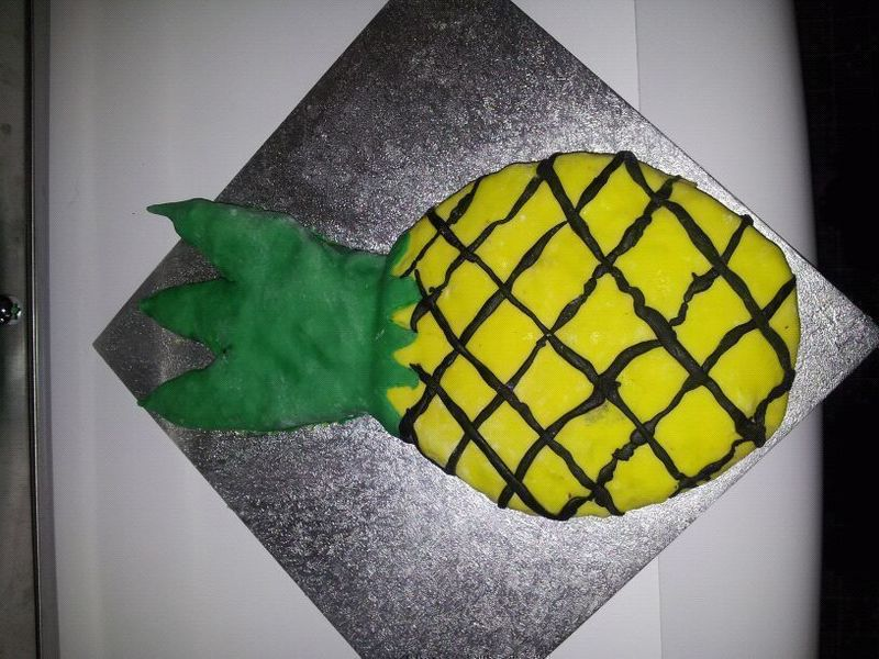 Psych Inspired Pineapple Cake 183 A Food Shaped Cake