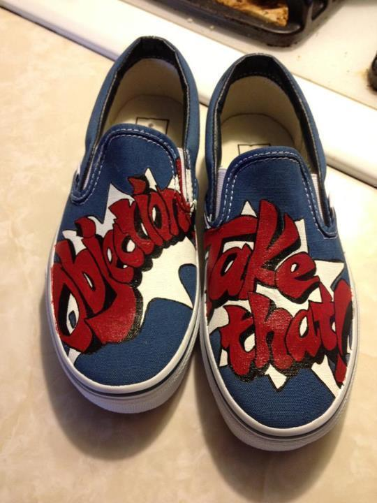 Phoenix Wright Painted Vans  A Pair Of Painted Shoes
