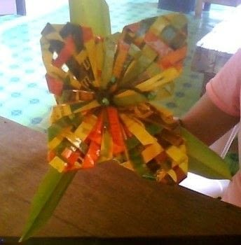 Flower Made From Paper Covered With Cellophane  How To Make A Bouquet  Art on Cut Out  Keep