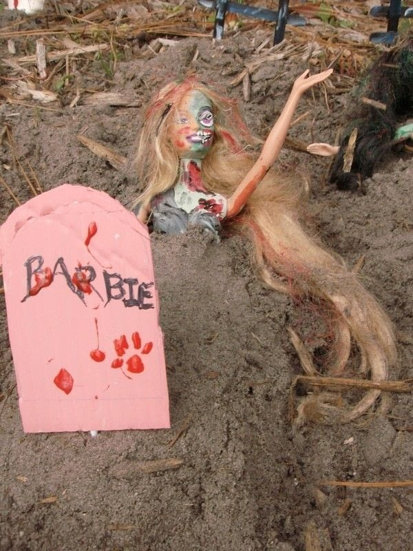 Barbie Zombie Graveyard  A Barbie Doll  Art on Cut Out