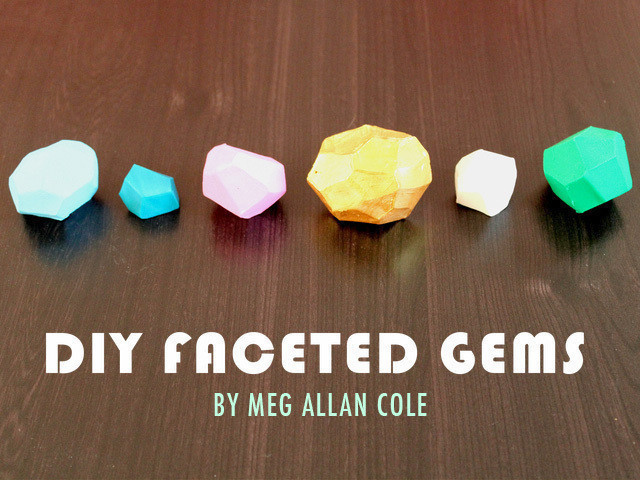 Diy Faceted Gems How To Fold An Origami Gem Papercraft