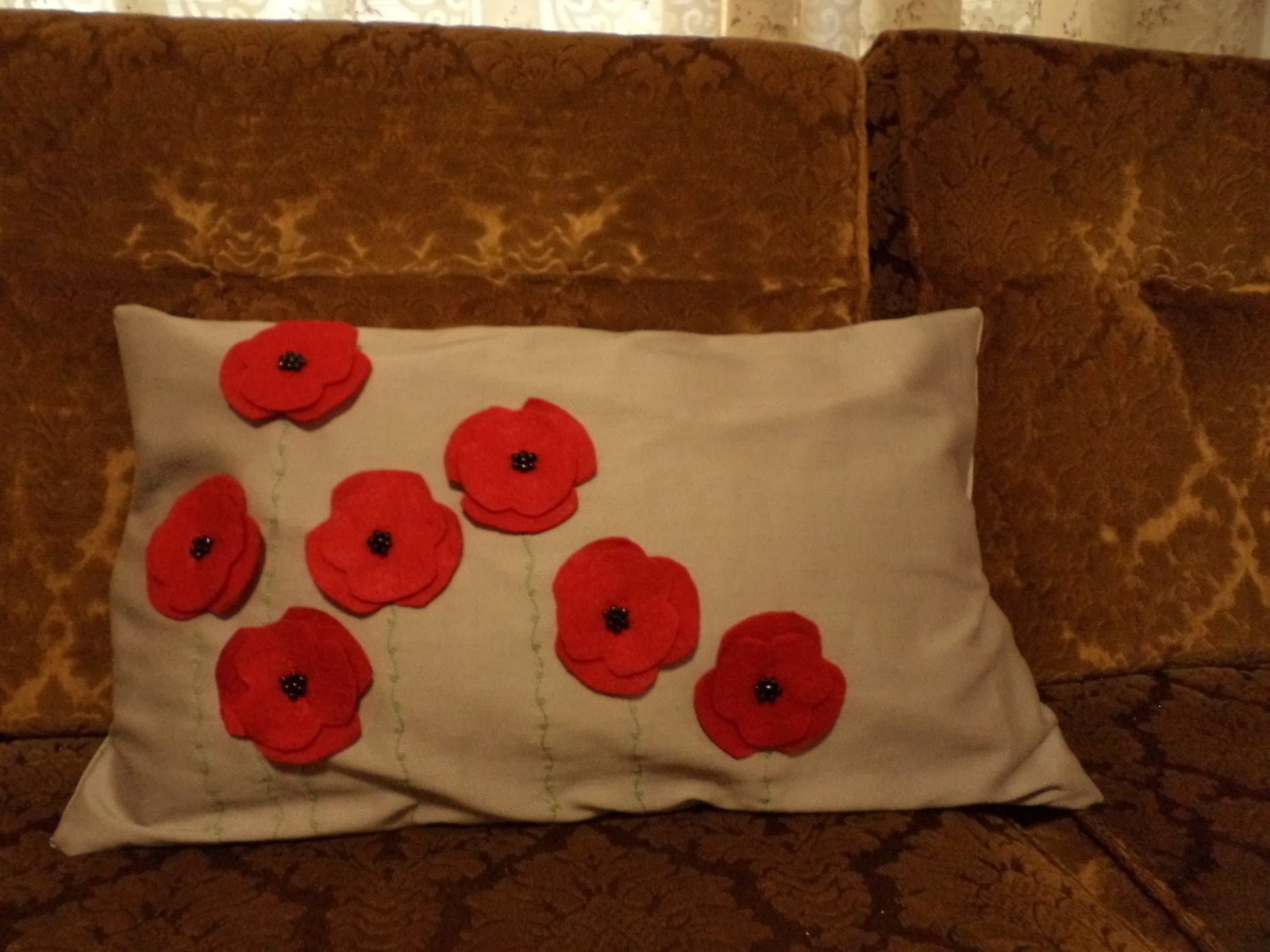 Poppy Scatter Cushion  How To Sew An Applique Cushion