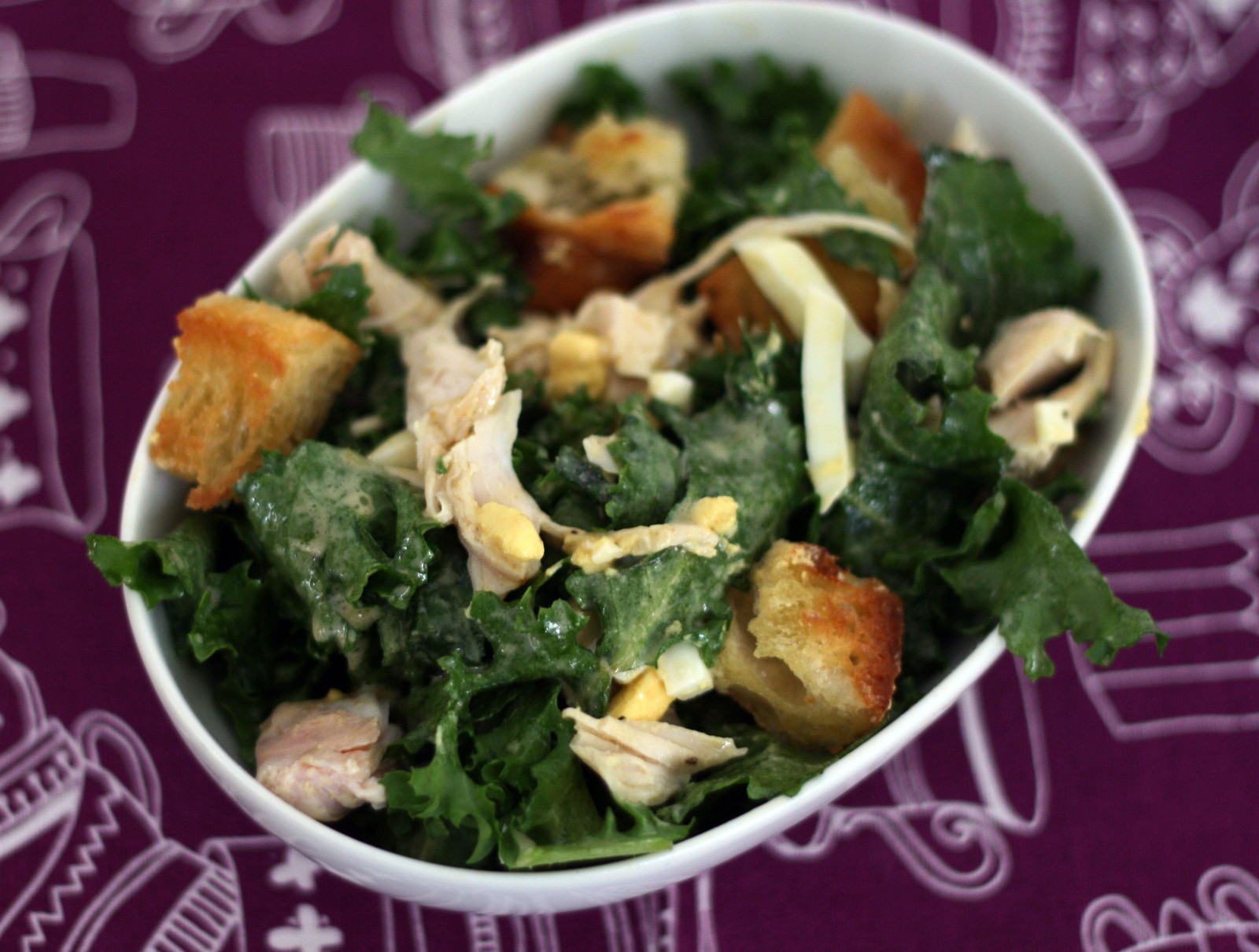 Escarole Salad With Turkey Amp Garlic Rubbed Croutons How