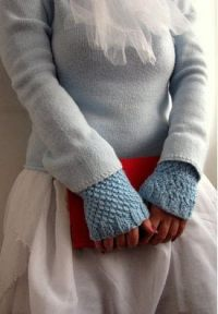 Knit Warmers In Moss Stitch  How To Make Fingerless ...