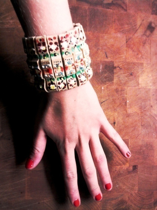 Diy Wooden Clothespin Bracelet  How To Make A Recycled Bracelet  Art Jewelry Making and