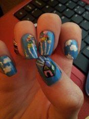 """"""" themed nail art character"""