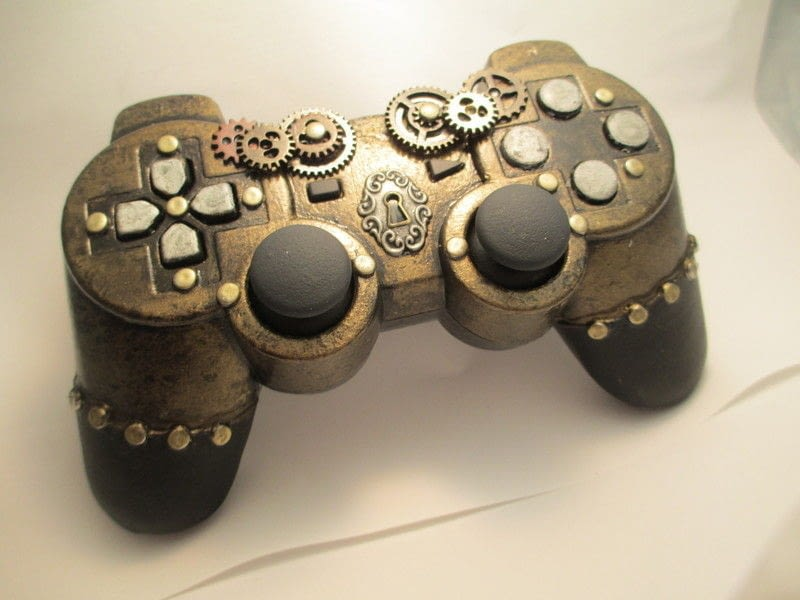 Steampunk Ps3 Controller  A Games Consoles  Mini Computers  Electronics on Cut Out  Keep