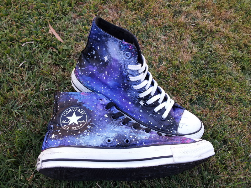 Galaxy Converse  A Pair Of Patterned Shoes  Art