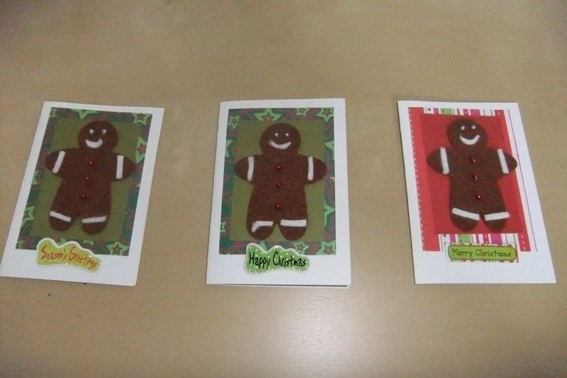Felt Christmas Cards A Greetings Card Cardmaking On