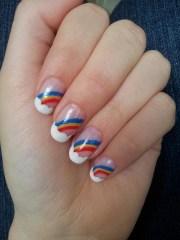 rainbow nail art paint