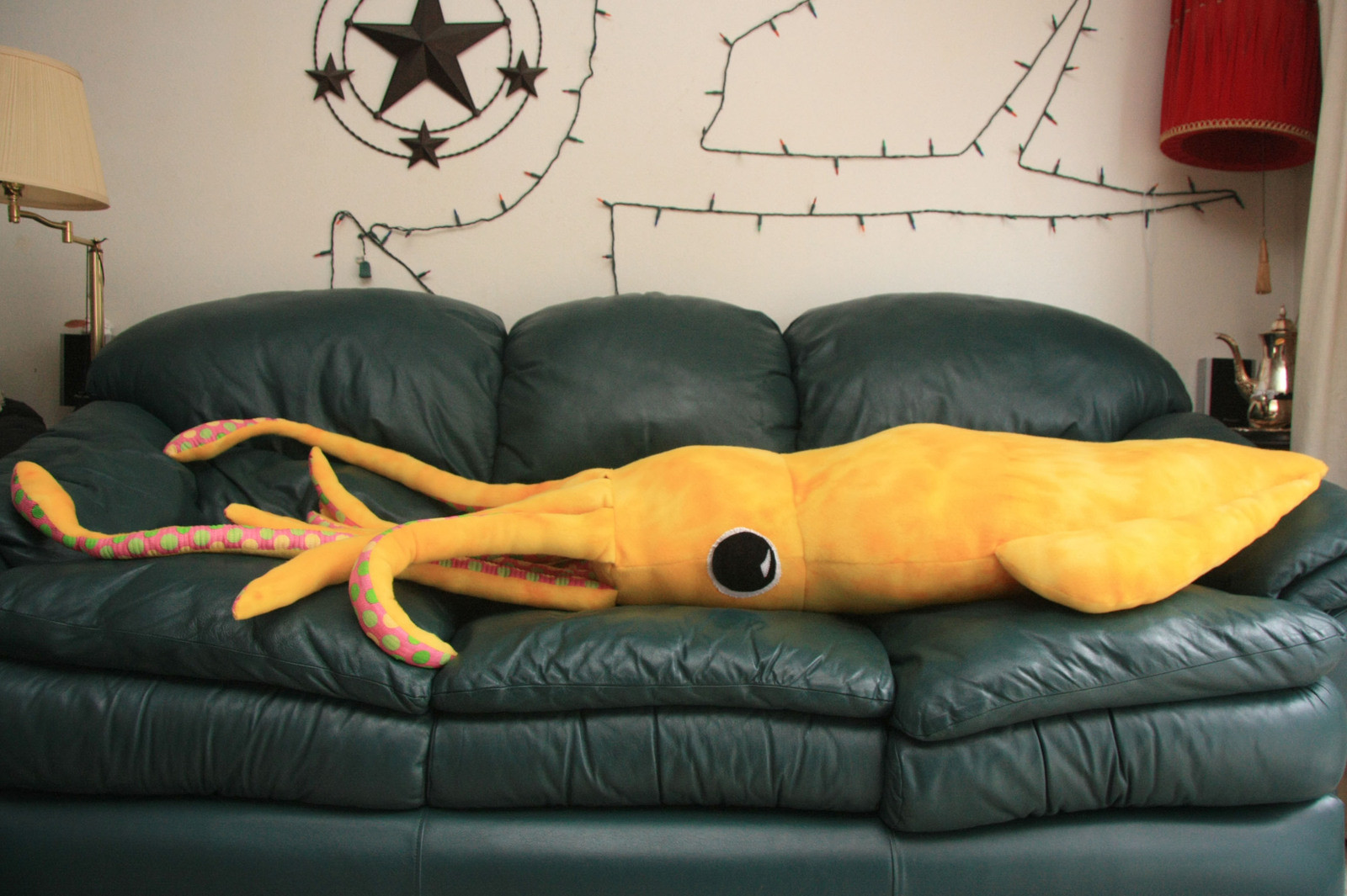 giant squid body pillow a shaped