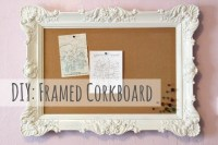 Diy: Framed Corkboard, Multipurpose Wall Decor  How To ...