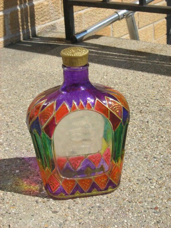 Royal Crown Altered Bottle  A Storage Bottle  Art