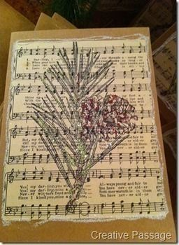 Sheet Music Christmas Cards How To Make A Recycled Card