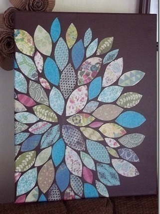Paper Scraps Flower Wall Art  How To Create A Drawing Or