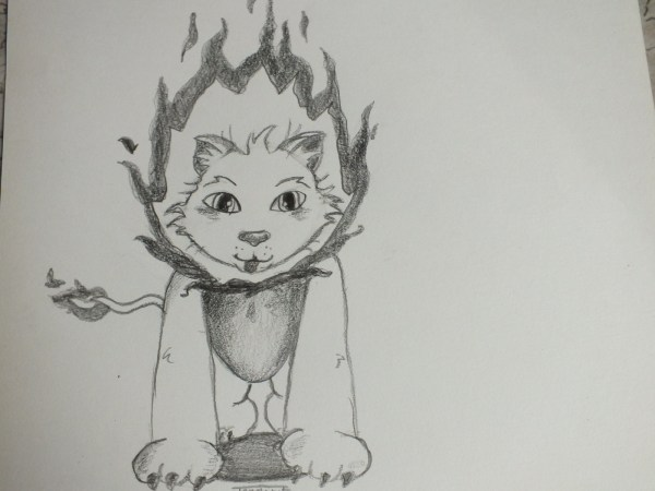 Cute Fire Lion Drawing Make Art