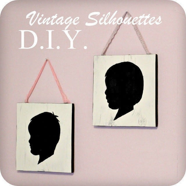 Diy: Vintage Style Silhouette Wall Art  How To Make