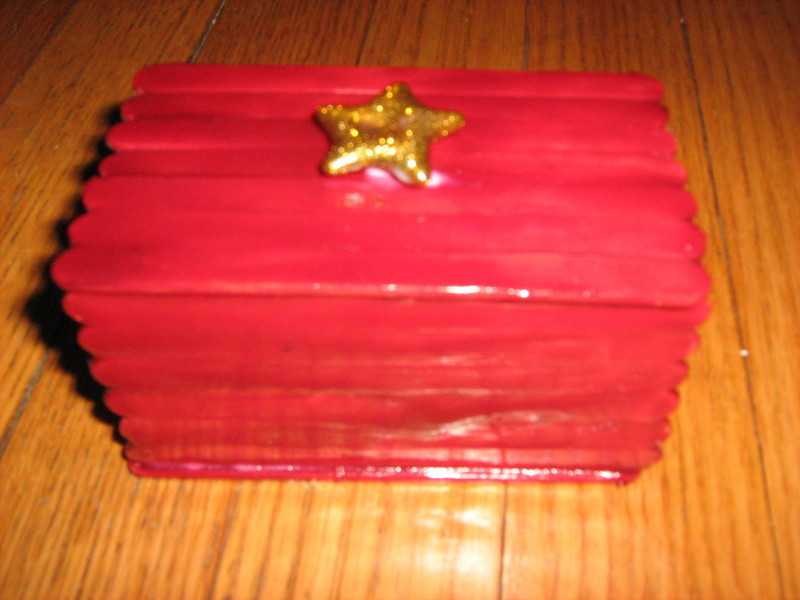 Gift Box From Popcycle Sticks  A Popsicle Stick Box  Home  DIY on Cut Out  Keep