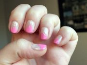 melting strawberry ice cream nails