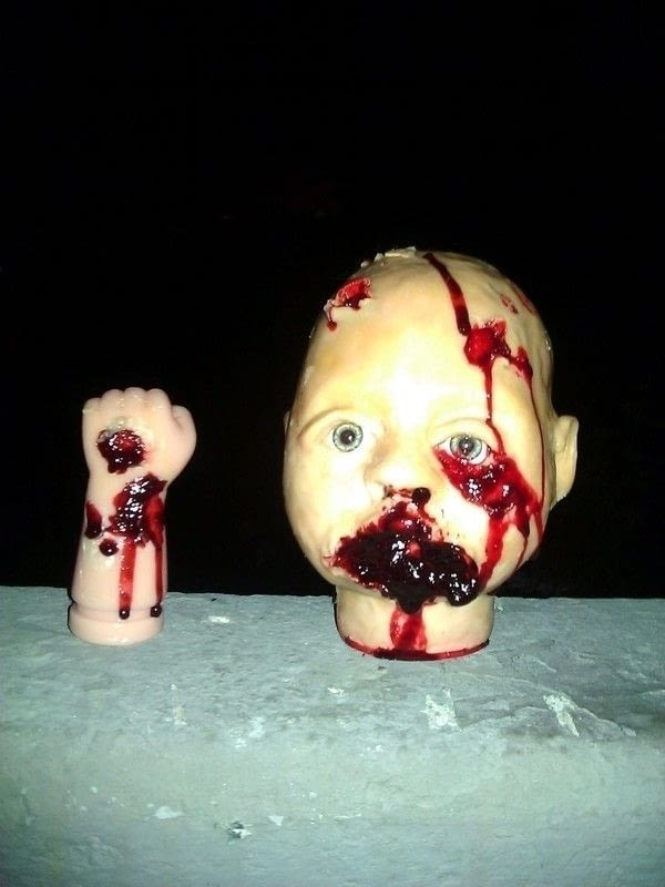 Zombie Baby Doll  A Figurine Dolls  Molding and Pottery
