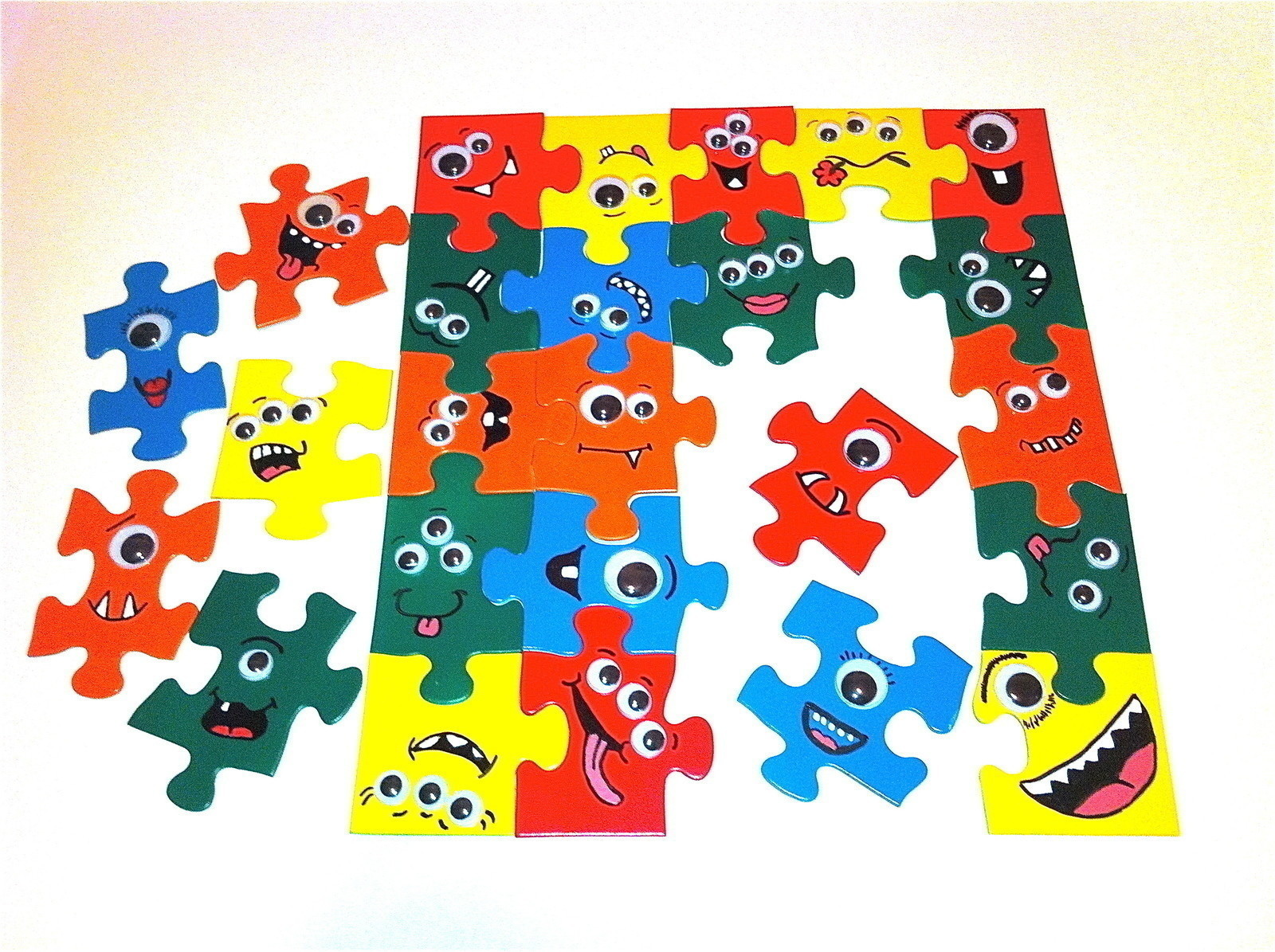 Googly Eyed Monster Puzzle How To Make A Puzzle Art On