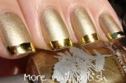 metallic french manicure with nail