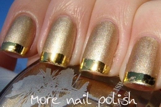 Metallic French Manicure With Nail Art Foil  How To Paint