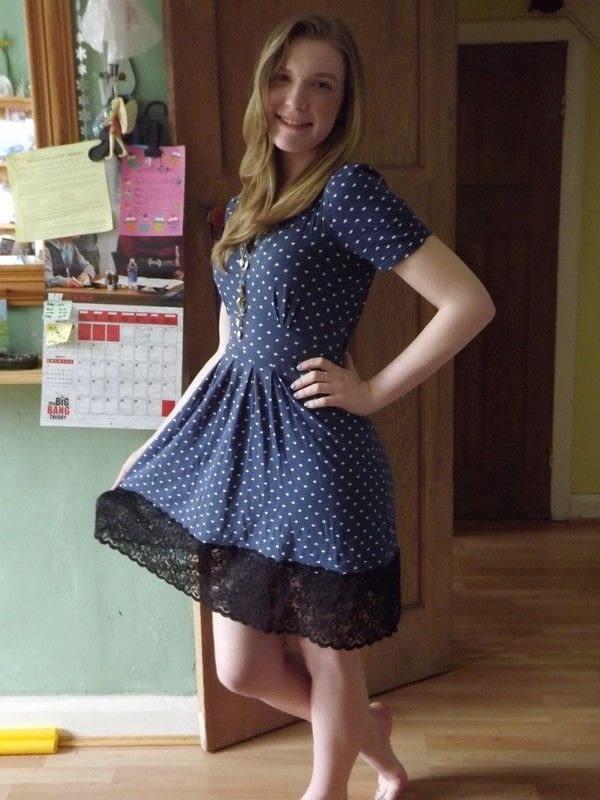 Lace Trim On A Too Short Dress An Embellished Dress