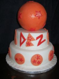 Dragon Ball Z Tiered Birthday Cake  A Cartoon Cake ...
