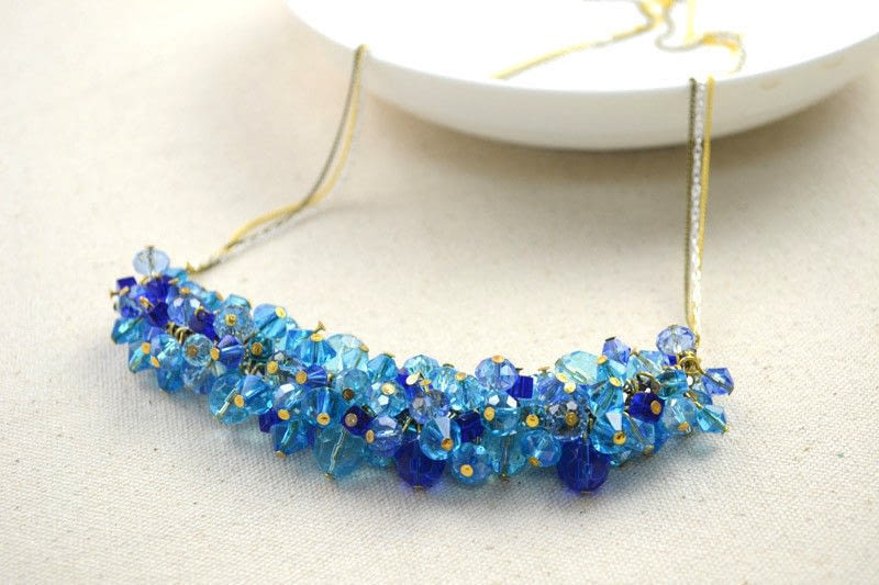 Unite Varied Glass Beads In One Charm Necklace  How To Make A Braided Bead Necklace  Jewelry