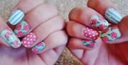 floral pattern nails patterned
