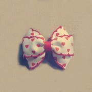 handmade red hair bows girls