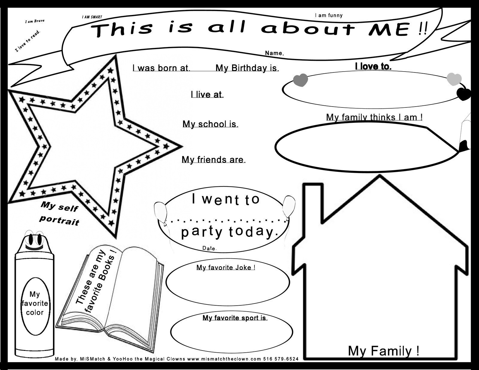 Kids All About Me Poster Print Out How To Make A