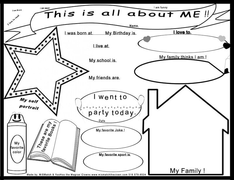 Kids All About Me Poster Print Out · How To Make A