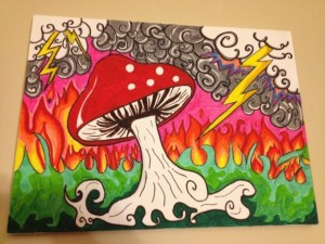sharpie drawing funky colorful projects drawings marker simple canvas paintings project