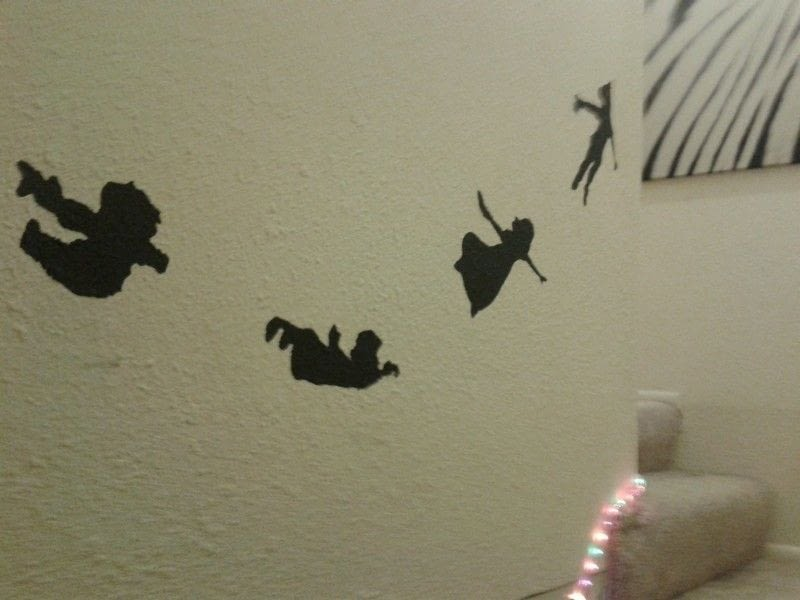 Peter Pan Wall Art Silhouette Art Decorating On Cut