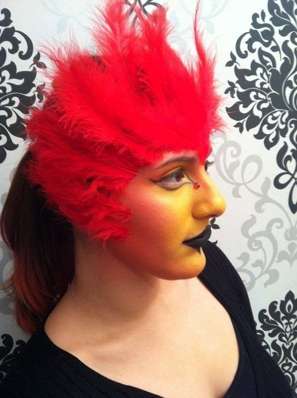 Phoenix Makeup Tutorial Inspired By Fawkes Harry Potters Phoenix  How To Create A Face