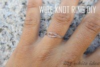 Wire Knot Ring Diy  How To Make A Wire Bookmark  Jewelry ...