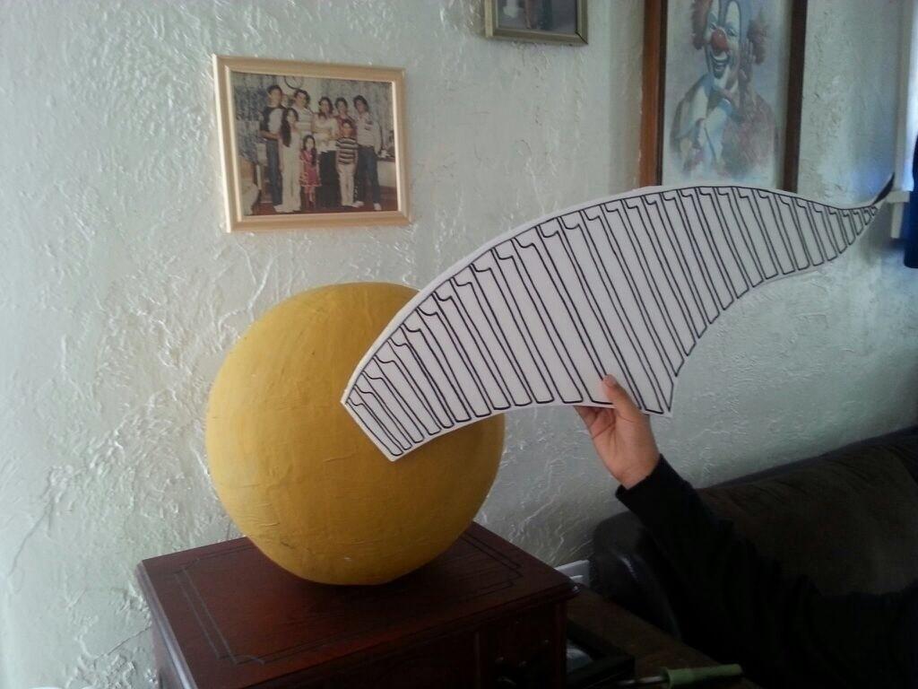 Golden Snitch Piata  A Piata  Home  DIY on Cut Out