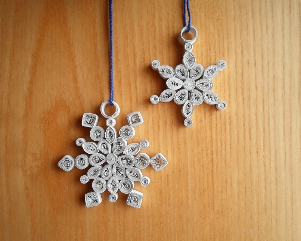 Quilled Snowflake Decorations A Snowflake Papercraft