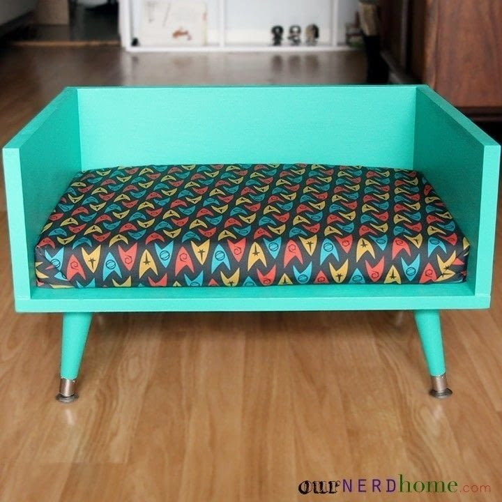 Mid Century Modern Style Pet Bed  How To Make A Pet Bed