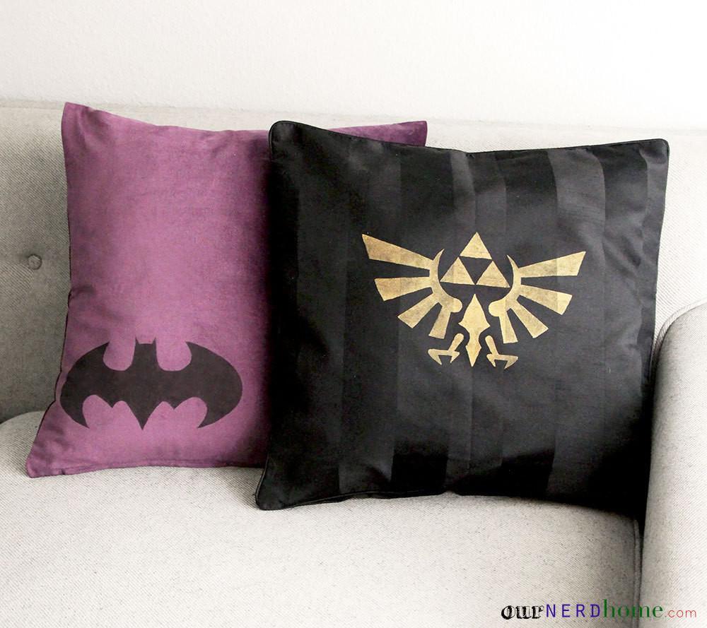 Custom Geek Throw Pillows  How To Make A Cushion  Home  DIY on Cut Out  Keep
