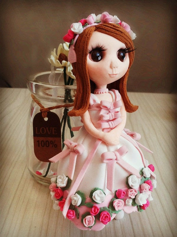Valentine Handmade Clay Dolls  A Doll Accessory  Home