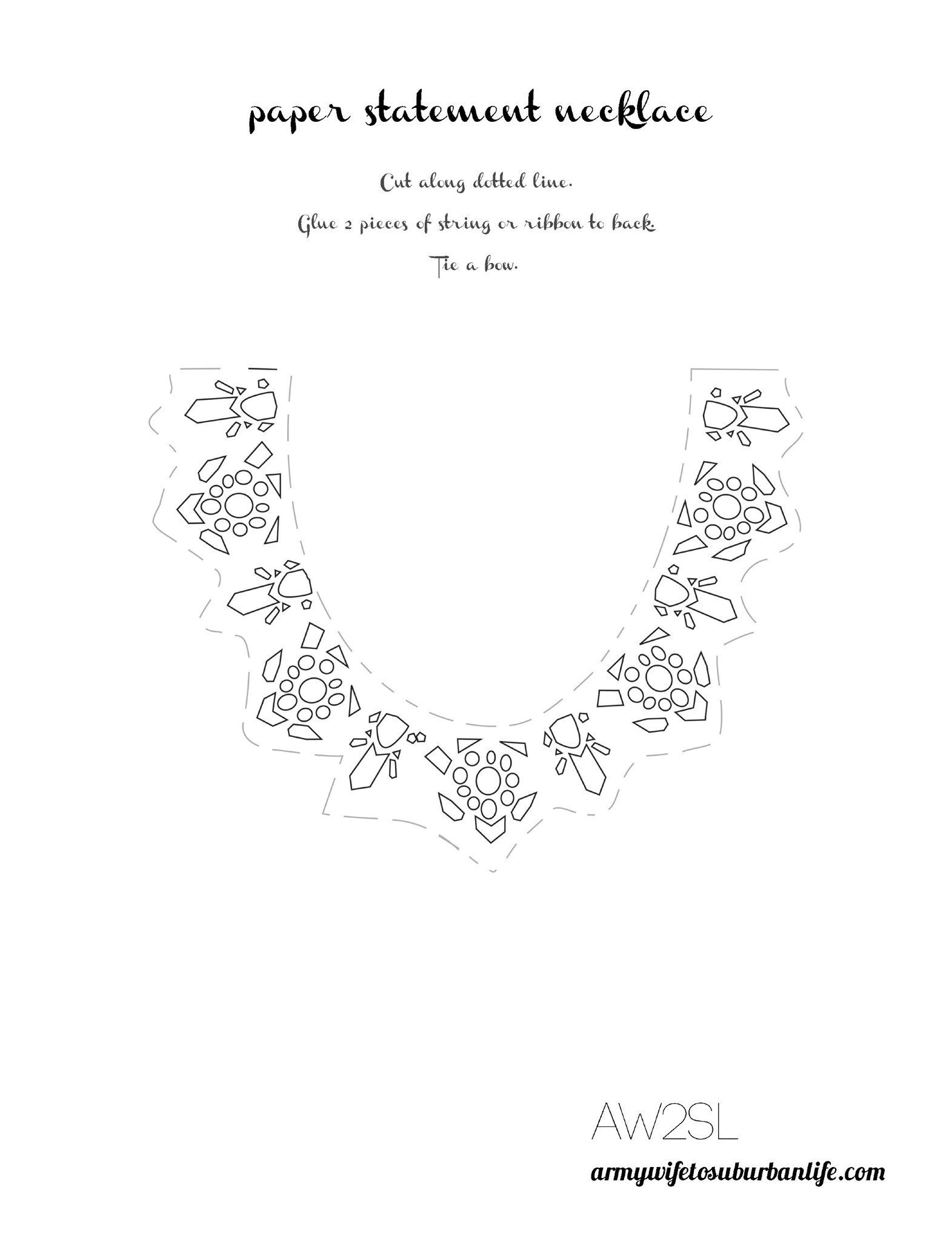 Paper Necklace Printable Craft · How To Make A Paper